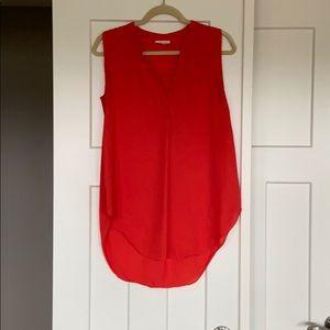 Tops - Burnt orange sleeveless blouse
